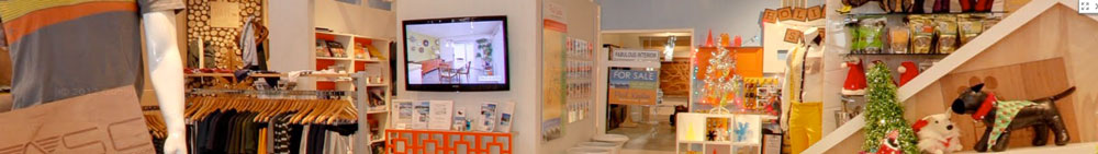 panoramic photo of store interior