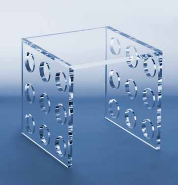 Art Style Innovation: clear acrylic Side-table